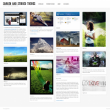 Шаблон WordPress Shaken Grid