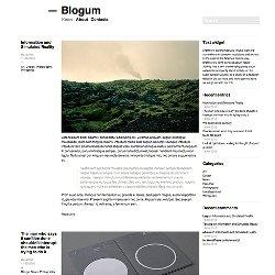 Минималистская тема Blogum