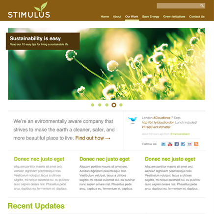 Коричневая цветовая схема темы Stimulus