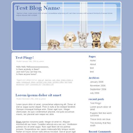 Тема WordPress о животных