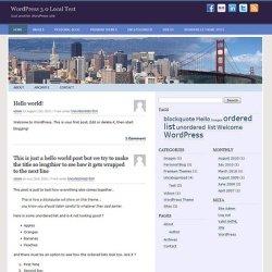 Городская тема WordPress GoldenGate