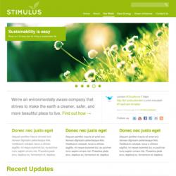 Премиум-тема Green Stimulus с 3-мя цветовыми схемами
