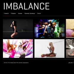 Тема WordPress Imbalance Black