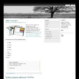 Черно-белый шаблон WordPress от YGo