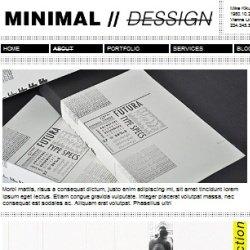 Тема WordPress Minimal Dessign