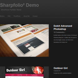 Тема WordPress Sharpfolio