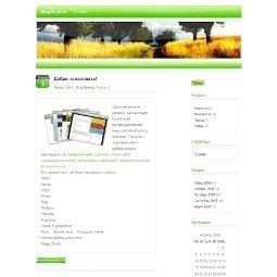 Свежая и такая теплая тема для блога Shiny Green