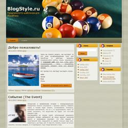 Тема WordPress о бильярде