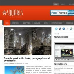 Тема WordPress Squares