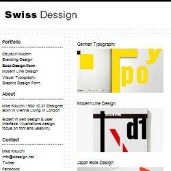 Тема WordPress Swiss Dessign