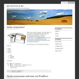 Тема для WordPress 2.7 This Just In!