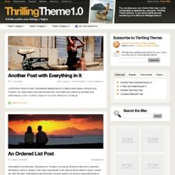 Премиум-тема с 4 цветовыми схемами ThrillingTheme