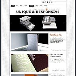 Тема Unique Responsive с поддержкой мобильных