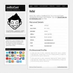 Шаблон для сайта-визитки zeeBizzCard