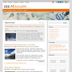 Тема WordPress zeeMagazine с 9-ю цветовыми схемами